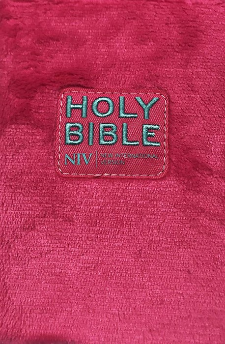 NIV Pocket Fluffy Pink Bible (Cloth)