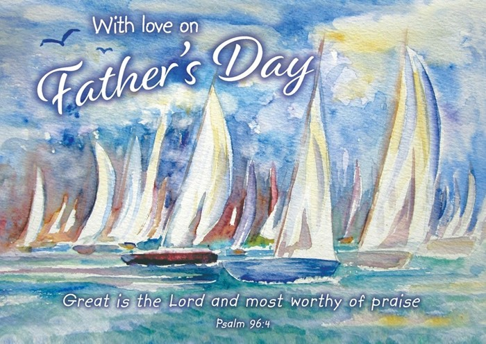 With Love on Father's Day Postcard (pack of 20) (Postcard)