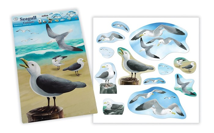 Fisher's Pier Seagull Cutouts (set of 12) (General Merchandise)