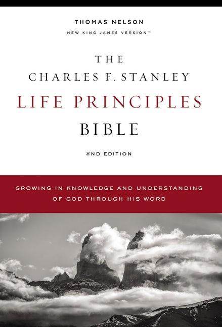 NKJV Charles Stanley Life Principles Bible, Comfort Print (Hard Cover)