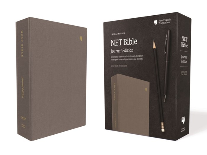 NET Bible, Journal Edition, Gray, Comfort Print (Cloth-Bound)