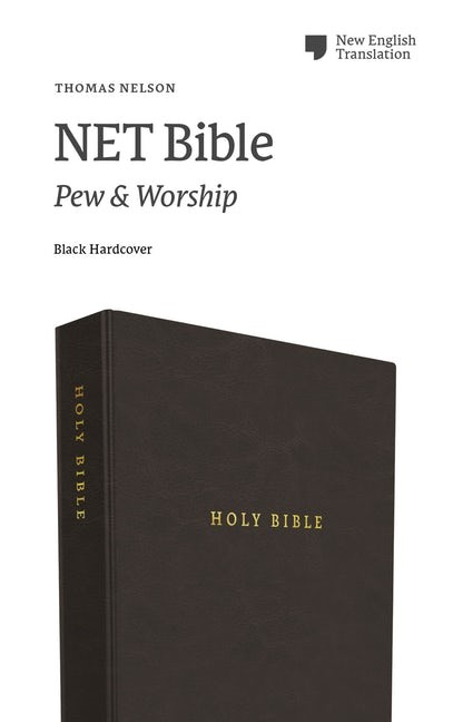 NET Bible, Pew and Worship Edition, Black, Comfort Print (Hard Cover)