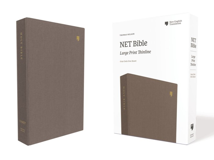 NET Large Print Thinline Bible, Gray (Cloth-Bound)