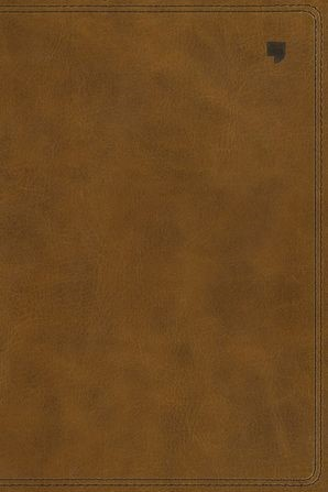 NET Large Print Thinline Bible, Brown (Imitation Leather)