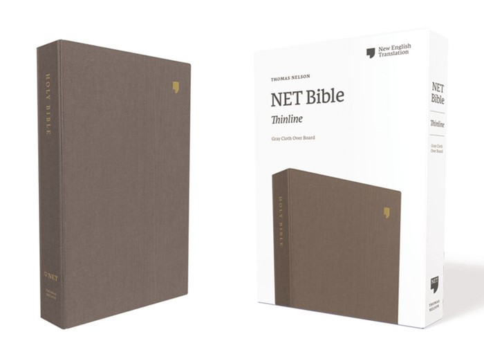 NET Thinline Bible, Gray, Comfort Print (Cloth-Bound)