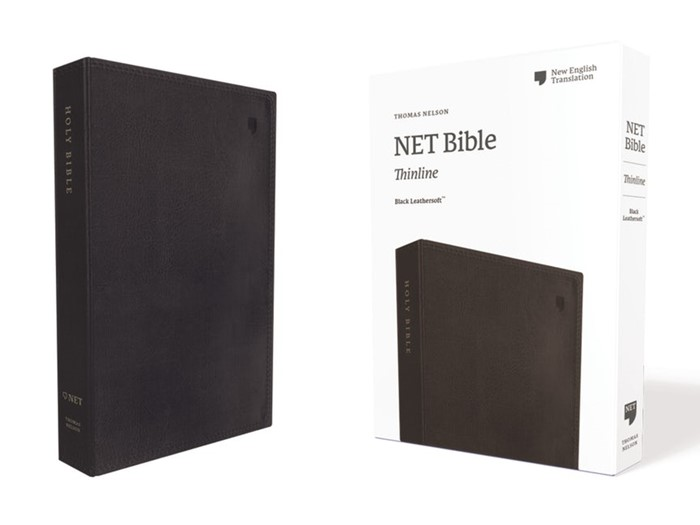 NET Thinline Bible, Black, Comfort Print (Imitation Leather)