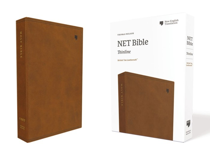 NET Thinline Bible, Brown, Comfort Print (Imitation Leather)