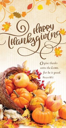 Happy Thanksgiving Offering Envelope (pack of 100) (Bulletin)