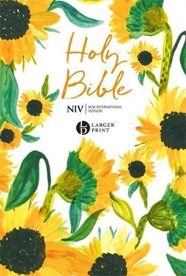 NIV Larger Print Bible, Sunflowers (Paperback)