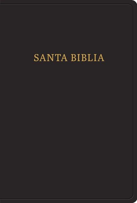 RVR 1960 Biblia letra gigante, negro imitación piel con índi (Imitation Leather)