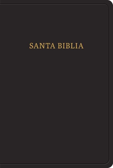 RVR 1960 Biblia letra grande tamaño manual, negro imitación (Imitation Leather)