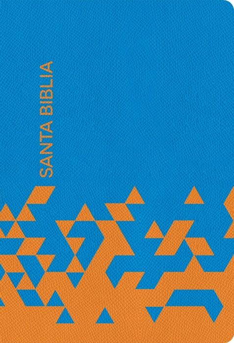 RVR 1960 Biblia para regalos y premios, azul océano/papaya s (Imitation Leather)