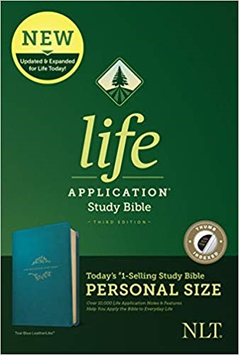 NLT Life Application Study Bible, Third Edition, Teal, Index (Imitation Leather)
