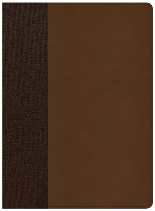 CSB Life Essentials Study Bible, Brown LeatherTouch, Indexed (Imitation Leather)