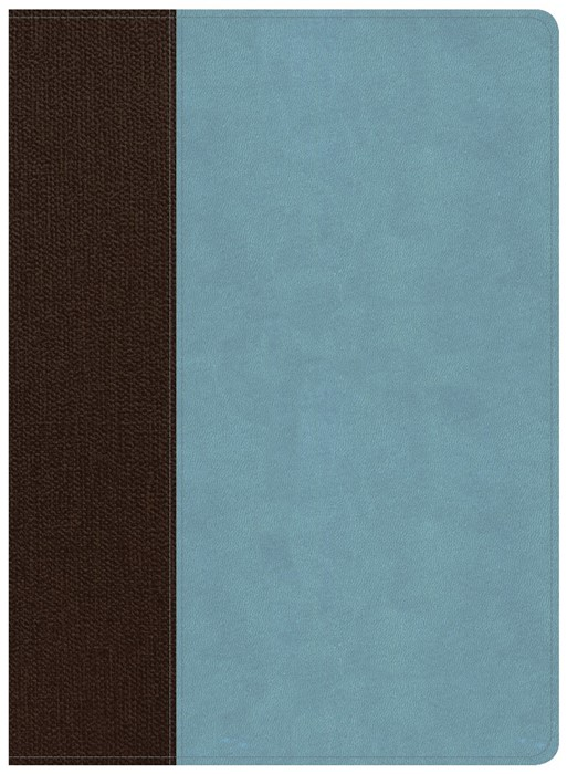 CSB Life Essentials Study Bible, Brown/Sky LeatherTouch, Ind
