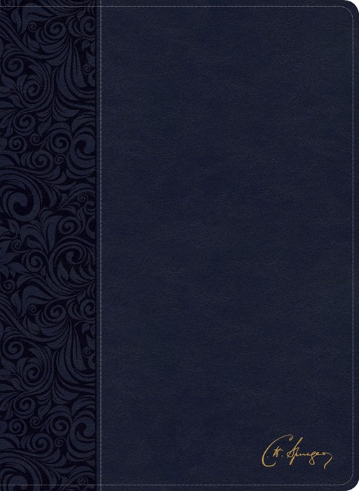 CSB Spurgeon Study Bible, Navy LeatherTouch (Imitation Leather)