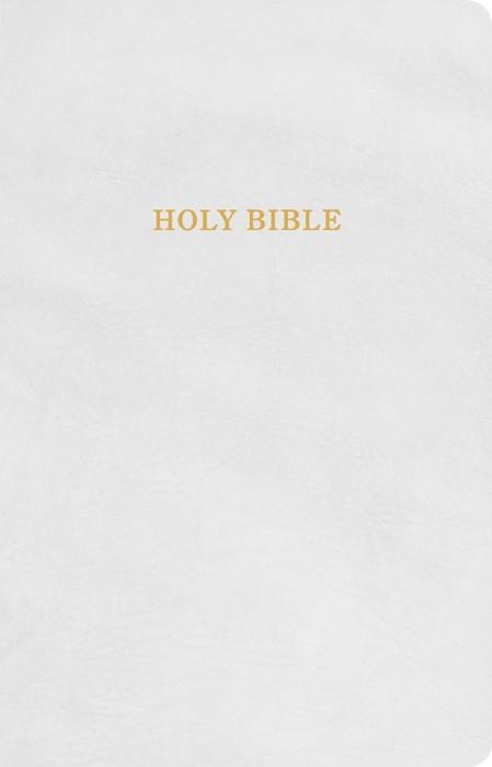 KJV Gift and Award Bible, White Imitation Leather