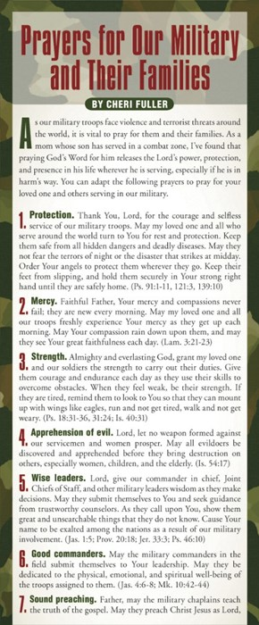Prayers For Our Military And Their Families 50-Pack (Multiple Copy Pack)