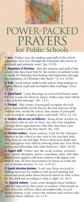 Power-Packed Prayers For Public Schools 50-Pack (Multiple Copy Pack)