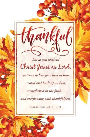 Thankful Bulletin (Pack of 100) (Bulletin)