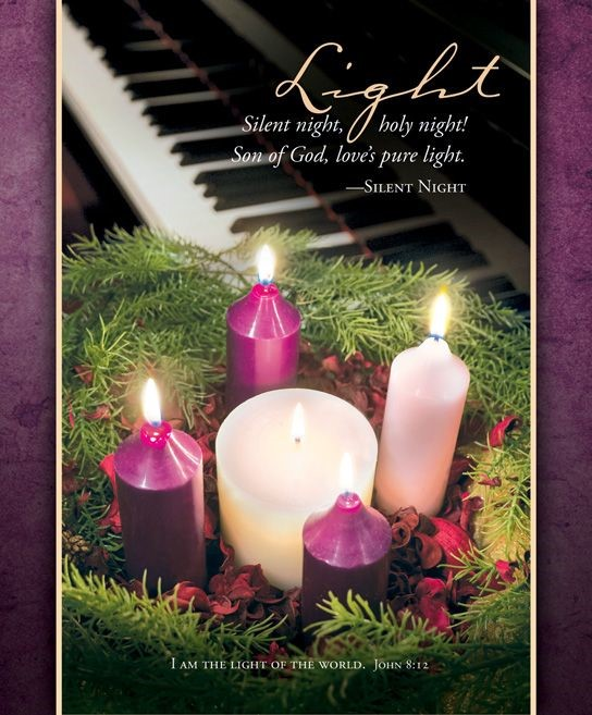 Advent Light of the World Bulletin Large (Pack of 100) (Bulletin)