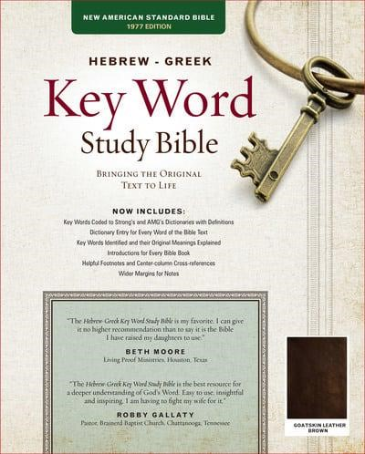 The Hebrew-Greek Key Word Study Bible (Genuine Leather)