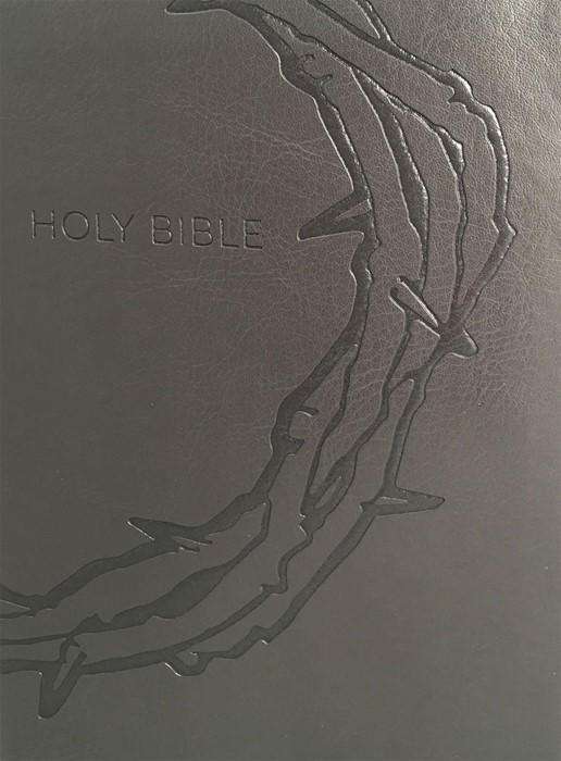 KJV Sword Study Bible, Large Print, Personal Size, Charcoal (Leather Binding)
