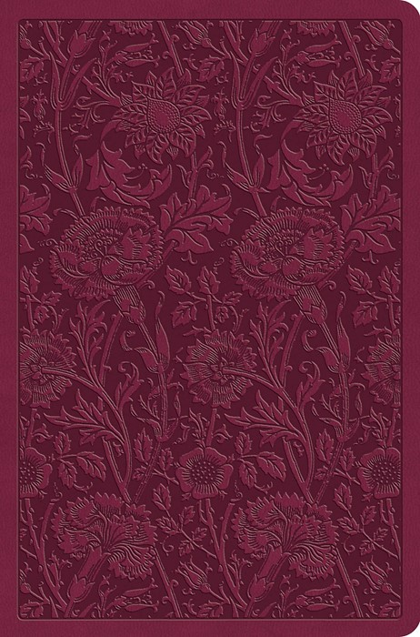 ESV Value Compact Bible, Raspberry, Floral Design (Imitation Leather)