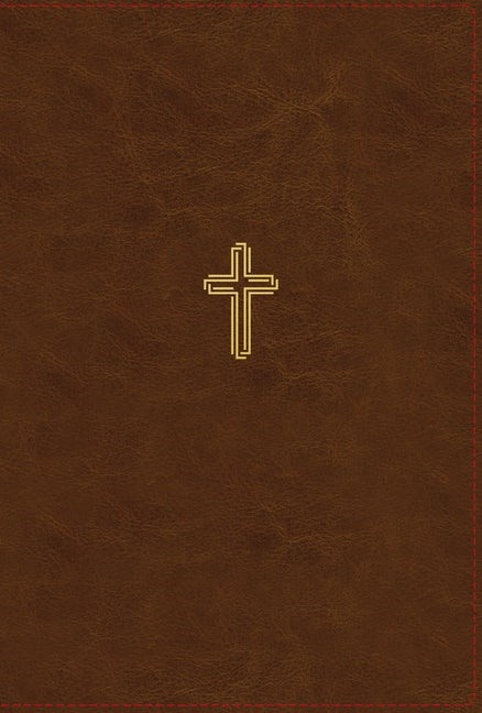 NASB Thinline Bible, Large Print, Brown, Red Letter Edition (Imitation Leather)