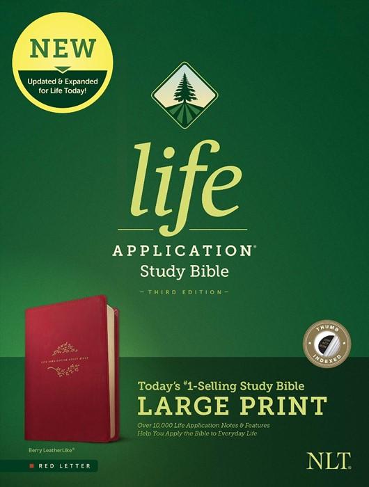 NLT Life Application Study Bible, Third Edition, Large Print