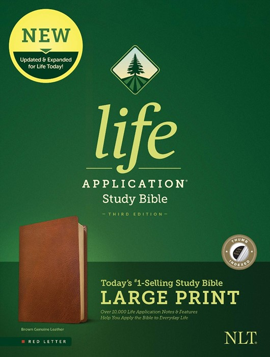 NLT Life Application Study Bible, Third Edition, Large Print (Genuine Leather)