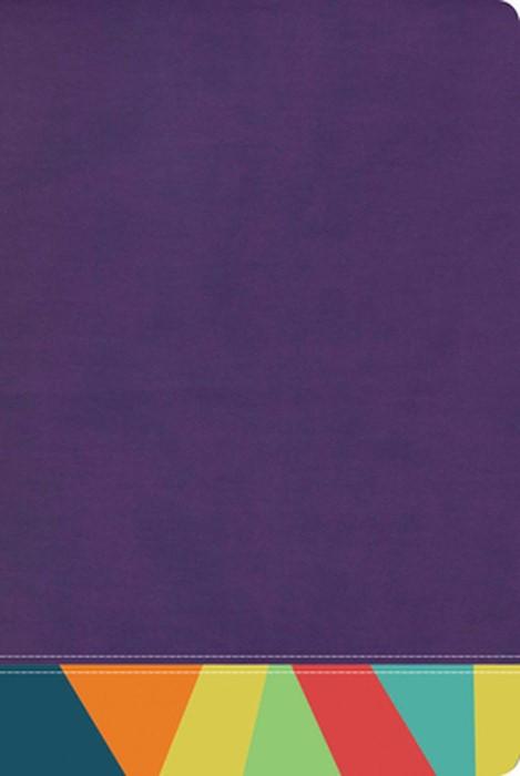 RVR 1960 Biblia de Estudio Arco Iris, morado/multicolor (Imitation Leather)