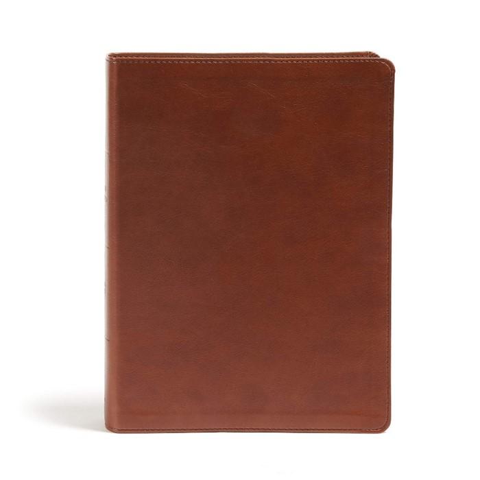 CSB Holy Land Illustrated Bible, British Tan LeatherTouch (Imitation Leather)