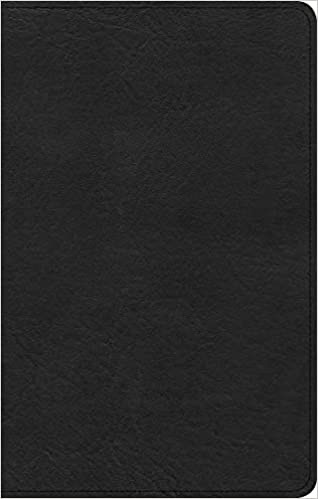 CSB Personal Size Bible, Black Genuine Leather (Imitation Leather)