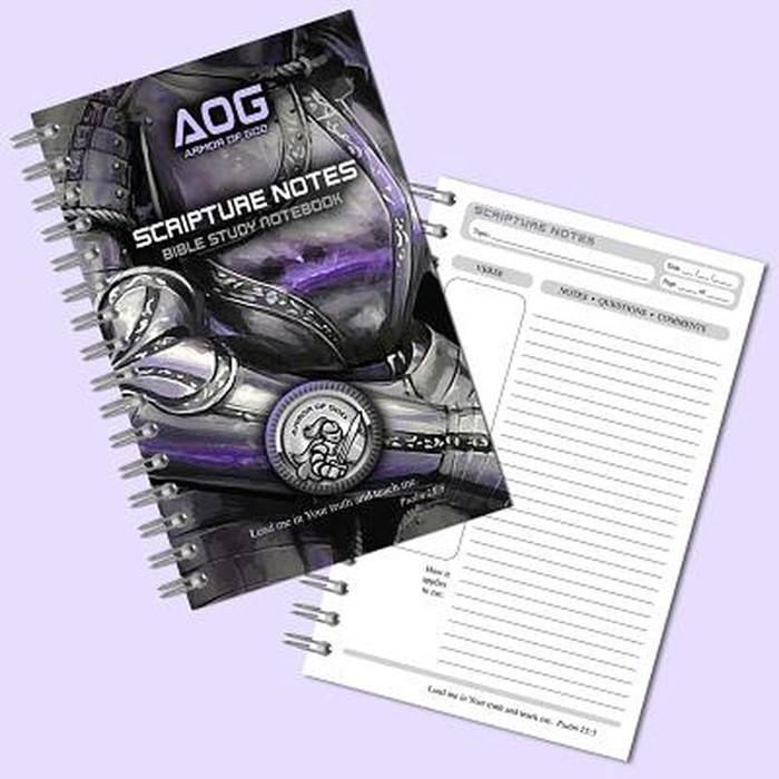 Armor of God Scripture Notebook, Violet/Black (Spiral Bound)