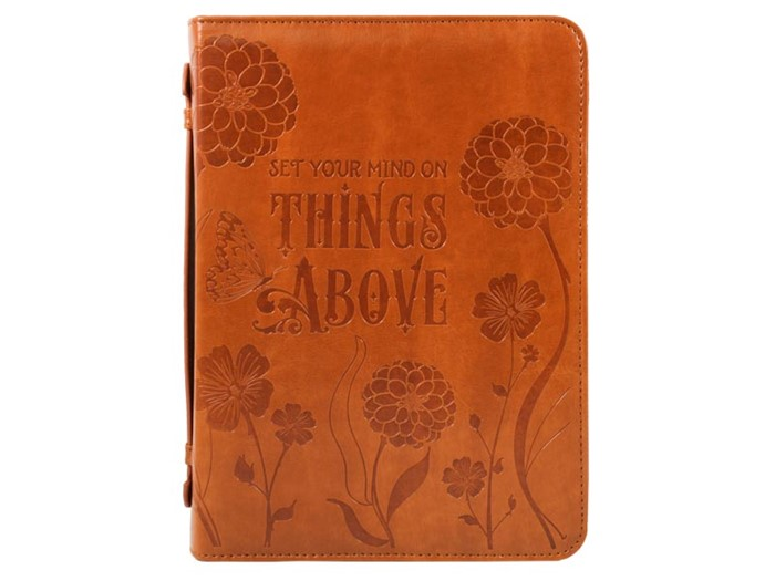 Bible Cover Things Above Imitation Leather, Large (Bible Case)