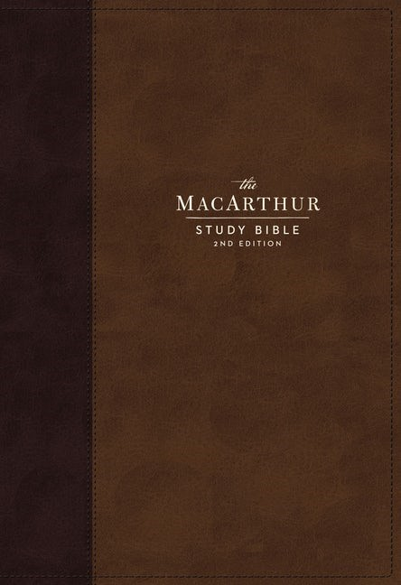NKJV MacArthur Study Bible Bible, Brown, Indexed (Imitation Leather)