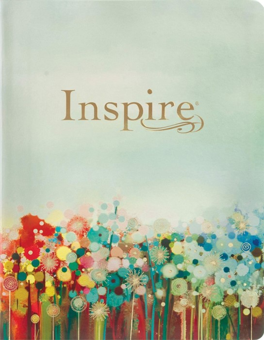 Inspire Bible Large Print NLT (LeatherLike, Multicolor) (Genuine Leather)