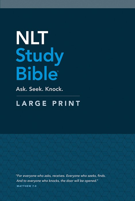 NLT Study Bible Large Print (Red Letter, Hardcover) (Hard Cover)