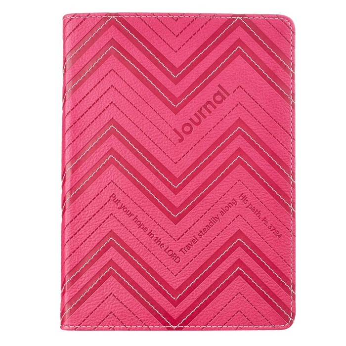 Psalm 37:34 Pink Lux Mini Journal (Imitation Leather)