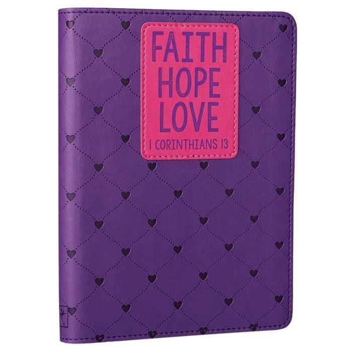 1 Corinthians 13 Purple Lux Mini Journal