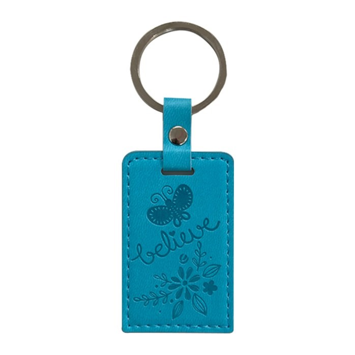 Lux Leather Keyring: Believe (Butterfly) (Keyring)