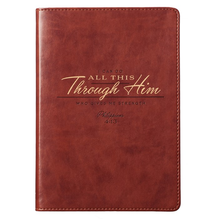 LuxLeather Journal: I Can Do All This (Imitation Leather)