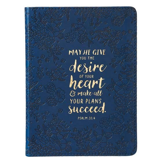 Journal: Psalm 20:4 Navy (Imitation Leather)