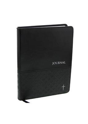 Journal: Charcoal Cross (Imitation Leather)