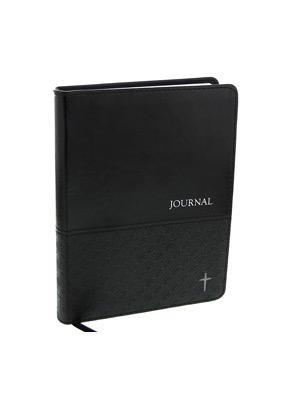 Journal: Charcoal Cross (Imitation Leather)