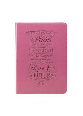 Journal: Jeremiah 29:11 Pink Lux Leather (Imitation Leather)