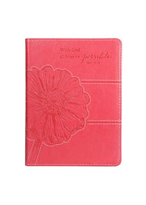 Journal: Matthew 19:25 Pink Lux Leather (Imitation Leather)