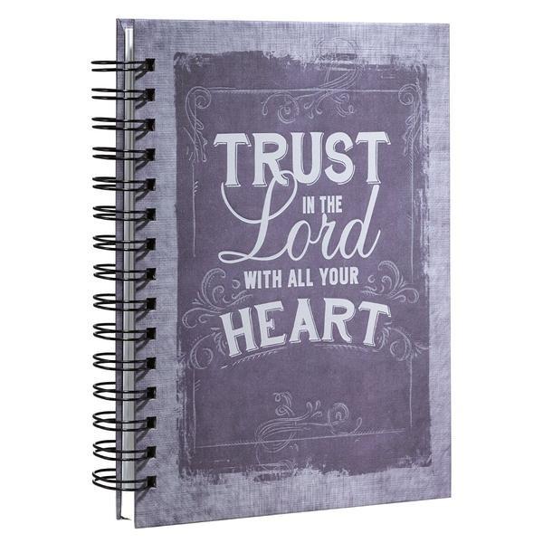 Wiro Journal: Purple/Trust in the Lord (Spiral Bound)