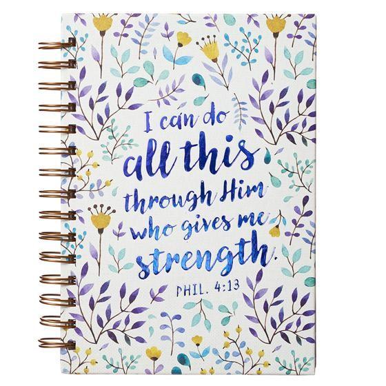 Wire Bound Journal: Philippians 4:13 (Spiral Bound)